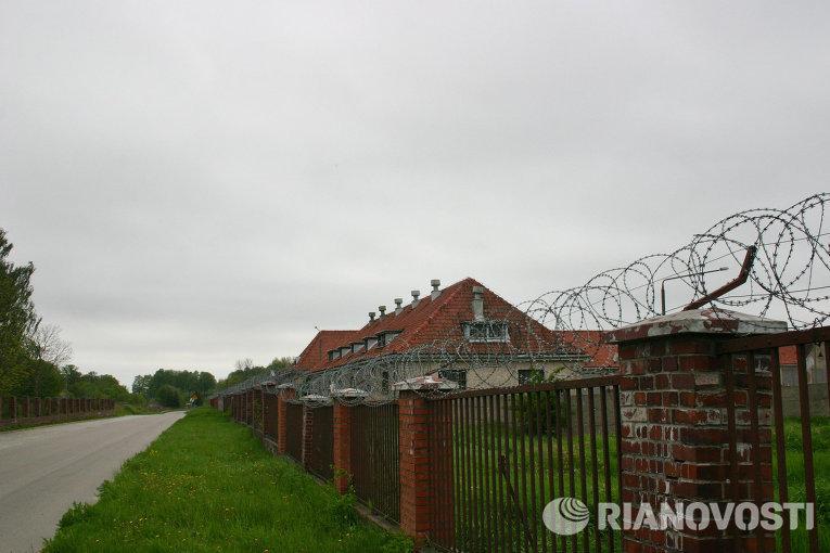 Американская военная база находится прямо в черте города Моронг в Польше