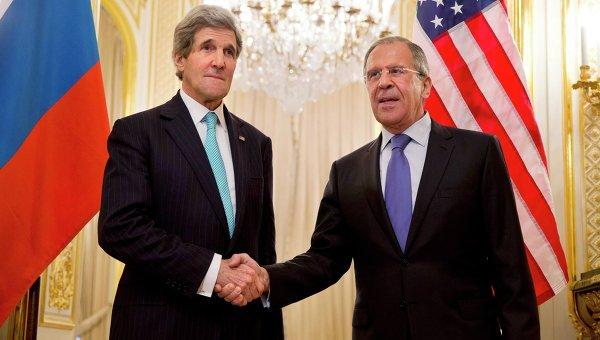 Встреча Джона Керри и Сергея Лаврова в Париже
