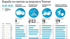 Борьба со снегом в Томске 24-30 марта