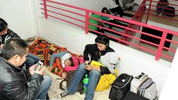 Эвакуация пострадавших во время землетрясения в Чили