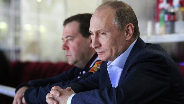 Владимир Путин и Дмитрий Медведев, архивное фото