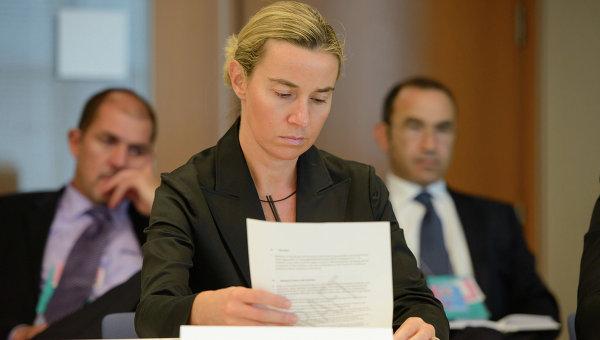 Глава дипломатии ЕС Федерика Могерини. Архивное фото.