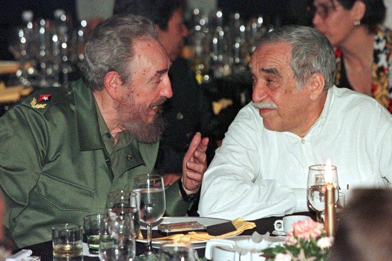 Президент Кубы Фидель Кастро и писатель Габриэль Гарсия Маркес