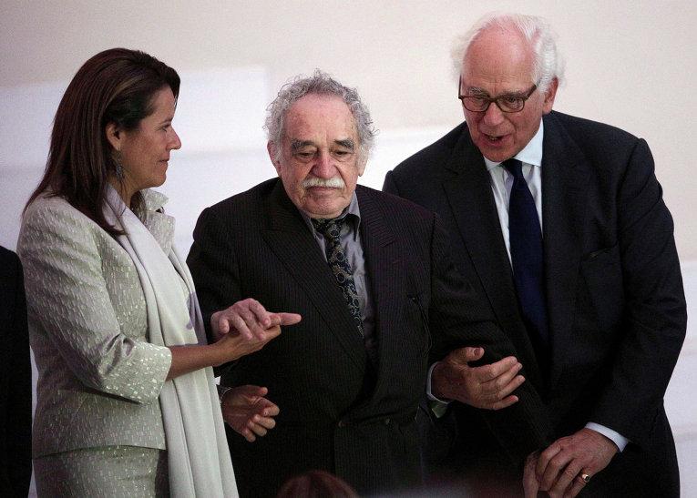 Супруга президента Мексики Маргарита Завала, писатель Габриэль Гарсиа Маркес и сэр Эвелин де Ротшильд