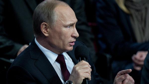 В.Путин принял участие в пленарном заседании I Медиафорума ОНФ