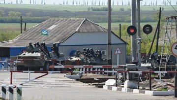 Украинские военнослужащие в окрестностях Славянска