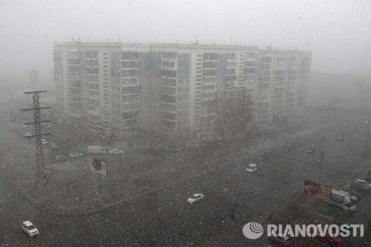 Сибирская весна: апрельский снег в Томске