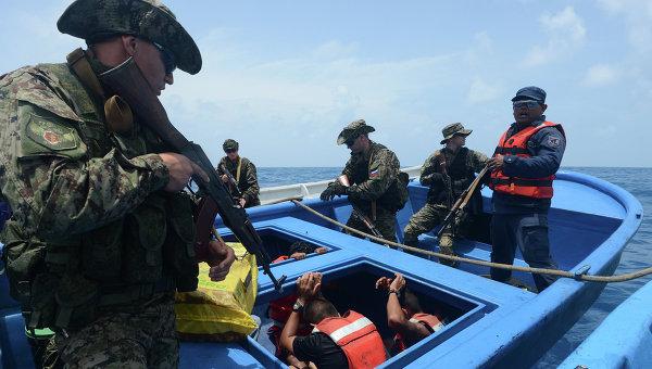 Учения наркополици России и стран Латинской Америки Шторм-2014 в Карибском море
