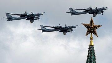 Репетиция воздушной части Парада Победы. Архивное фото