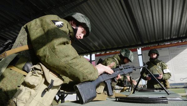 Военнослужащие контрактной службы. Архивное фото