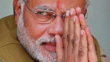 Главный министр индийского штата Гуджарат Нарендре Моди