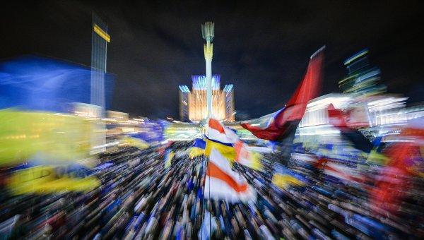 Сторонники евроинтеграции Украины на площади Независимости в Киеве, архивное фото