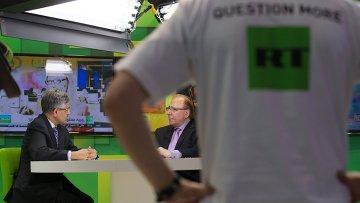 Павильон телеканала Russia Today. Архивное фото