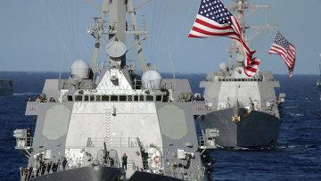 Ракетные эсминцы ВМС США. Архивное фото