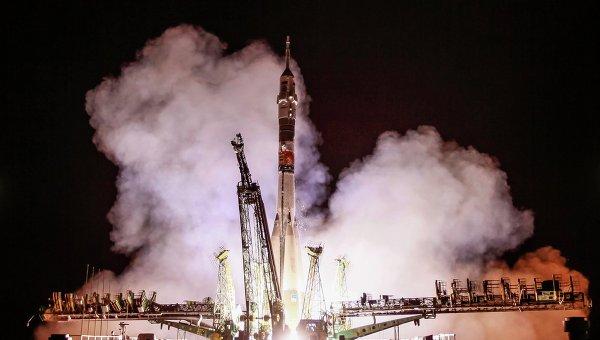 Старт пилотируемого корабля Союз ТМА-13М с космодрома Байконур. Архивное фото