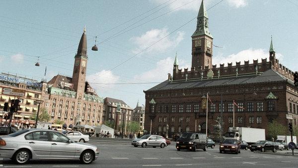 Площадь Ратуши, Копенгаген, Дания. Архивное фото