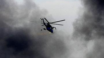 Украинский боевой вертолет Ми-24