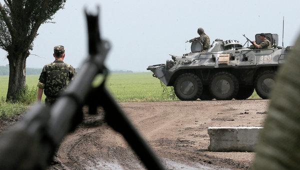 Солдаты украинской армии возле Славянска