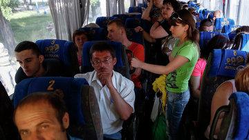 Беженцы с востока Украины. Архивное фото