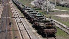 Отправка украинской военной техники из Крыма на Украину. Архивное фото