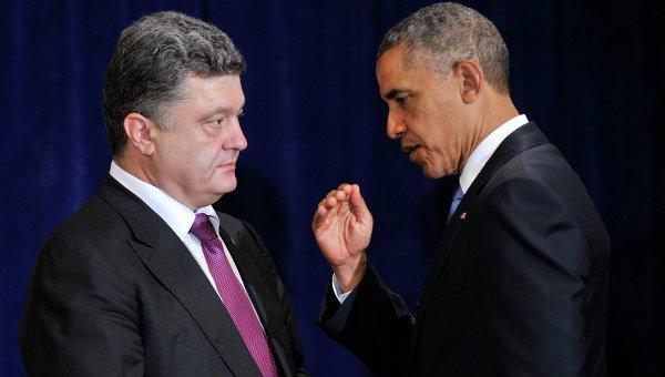 Барак Обама и Петр Порошенко. Архивное фото