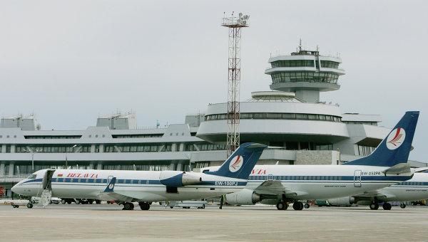Работа национального аэропорта Минска. Архивное фото