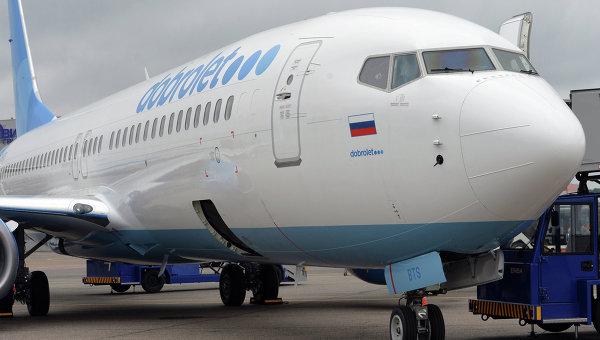 Лайнер авиакомпании Добролет в аэропорту Шереметьево. Архивное фото
