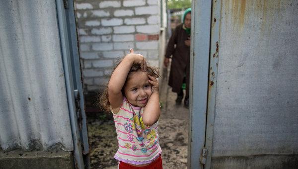 Жители поселка Семеновка, архивное фото