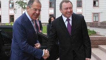 Министры иностранных дел РФ Сергей Лавров и Белоруссии Владимир Макей