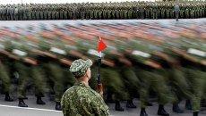 Репетиция торжественного парада ко Дню Независимости Белоруссии