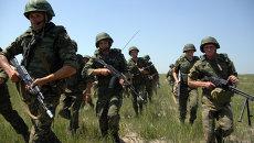 Десантники во время антитеррористических учений