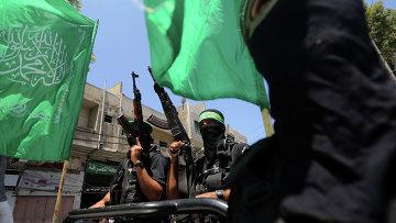 Члены движения Хамас. Архивное фото