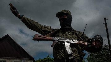 Боец народного ополчения в Славянске