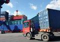 Погрузочно-разгрузочные работы в контейнерном терминале морского торгового порта