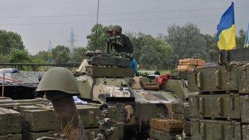 Позиция украинских войск под Славянском, архивное фото