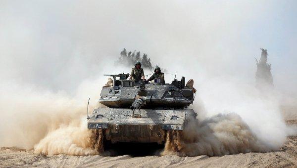 Израильская бронетехника в секторе Газа