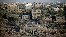 Последствия бомбардировок изральской армии в Секторе Газа