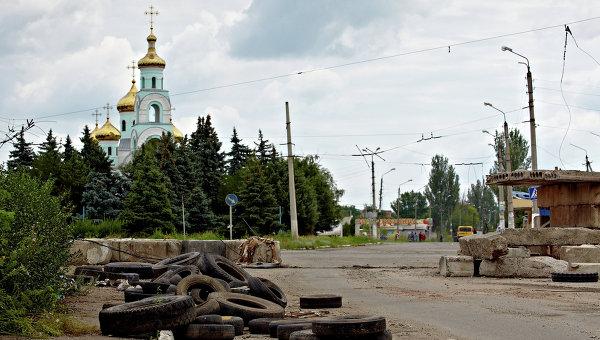 Ситуация в Славянске. Архивное фото.