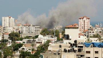 Последствия обстрела сектора Газа 21 июля 2014