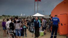 Лагерь беженцев с Украины, архивное фото