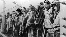 Узники концентрационного лагеря Освенцим, освобожденные войсками Красной армии. Архивное фото