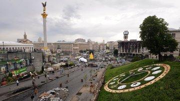 Вид на площадь Независимости в Киеве, Архивное фото