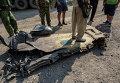 Фрагмент крыла украинского истребителя Су-25, сбитого в Донецкой области
