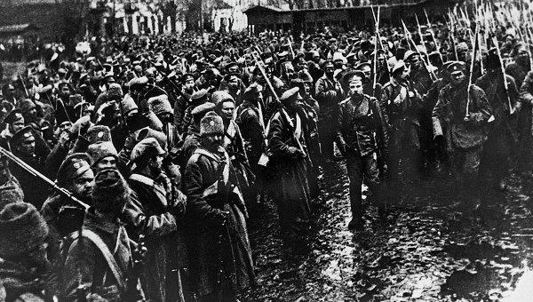 Вступление российских войск в Черновицы в 1916 году. Архивное фото