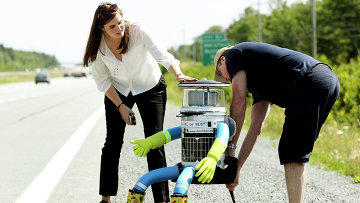 Робот из Канады hitchBOT