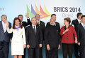 Президент Аргентины Кристина Фернандес де Киршнер во время торжественной церемонии фотографирования лидеров БРИКС 2014