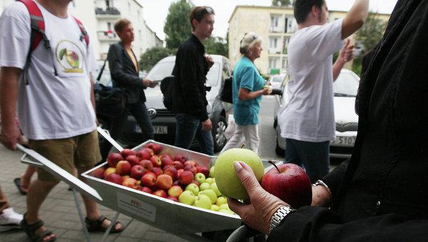 Польские фермеры на улицах Варшавы