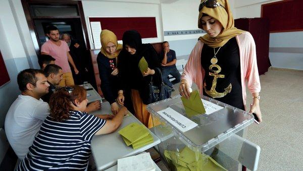 Голосование на президентских выборах в Турции