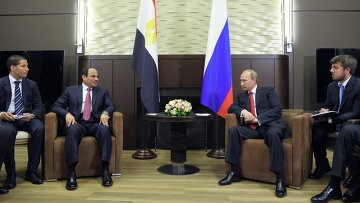Президент России Владимир Путин и президент Египта Абдель Фаттах ас-Cиси