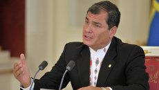 Президент Республики Эквадор Рафаэль Корреа. Архивное фото